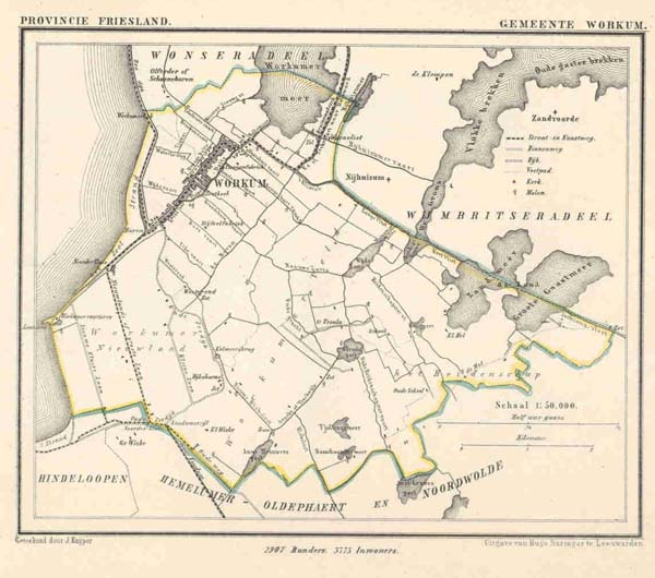 map communityplan Gemeente Workum by Kuyper (Kuijper)