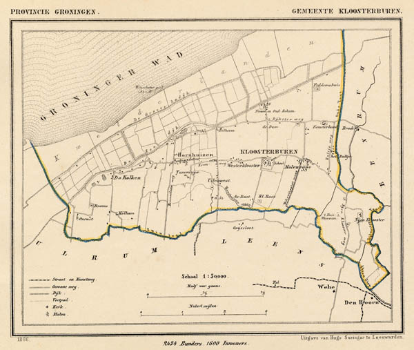 map communityplan Gemeente Kloosterburen by Kuyper (Kuijper)