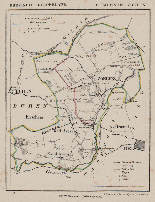 map communityplan Zoelen by Kuyper (Kuijper)
