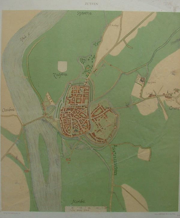 plan Zutphen, Zutfen by Jacob van Deventer