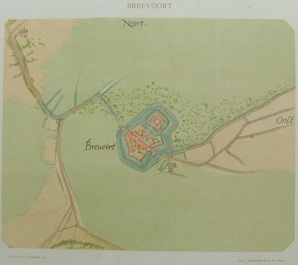 plan Breevoort, Brevoirt by Jacob van Deventer