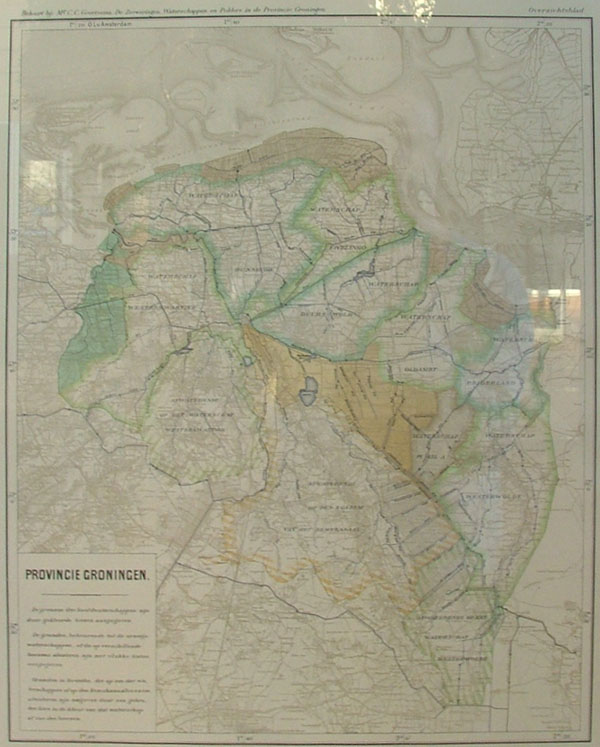 map Provincie Groningen by Mr C.C. Geertsema