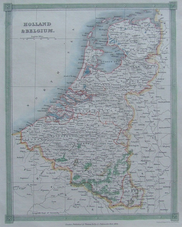 map Holland and Belgium by Kelly