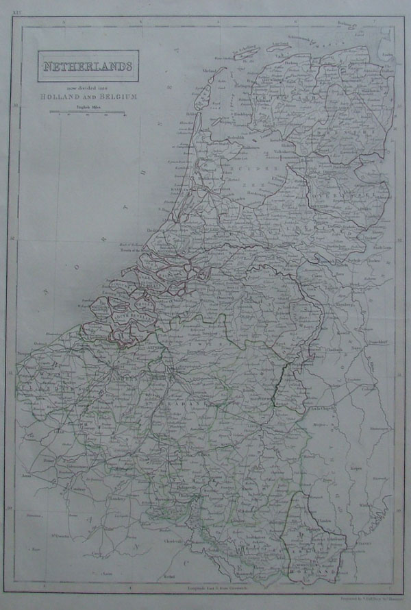 map Netherlands now divided into Holland and Belgium by A Black, C Black