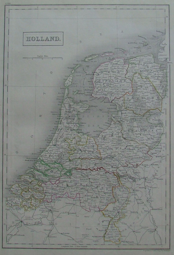 map Holland by A Black, C Black
