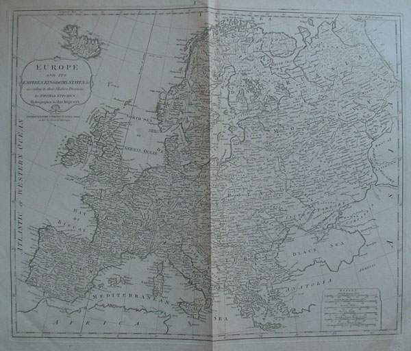 map Europe and its Empires, Kingdoms and States according to their Modern Divisions by Thomas Kitchen