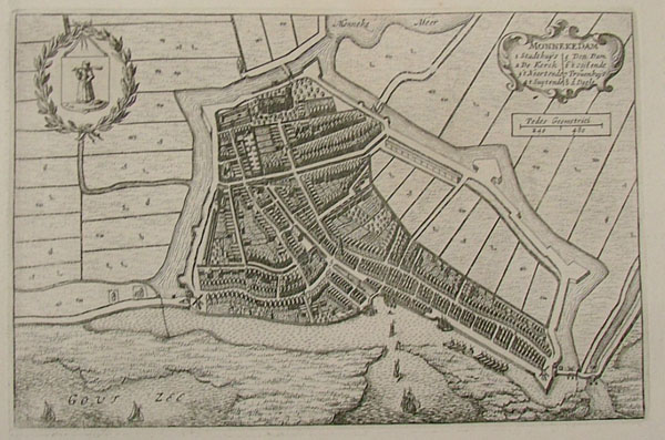 plan Monnekedam by Blaeu