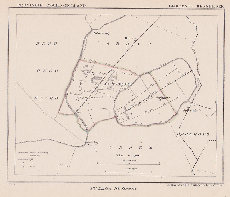 map communityplan Gemeente Hensbroek by Kuyper (Kuijper)