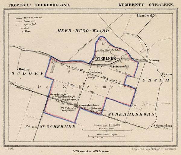 map communityplan Gemeente Oterleek by Kuyper (Kuijper)