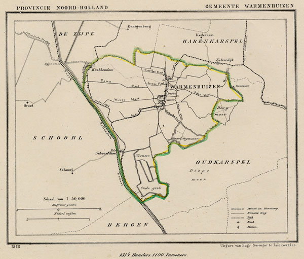map communityplan Gemeente Warmerhuizen by Kuyper (Kuijper)