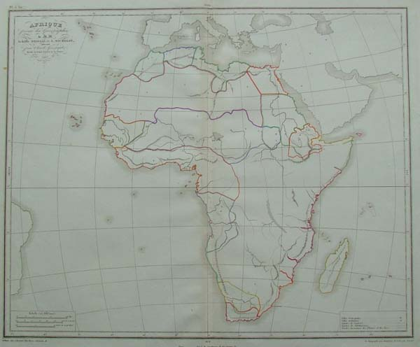 map Afrique by Achille Meissas, A. Michelot