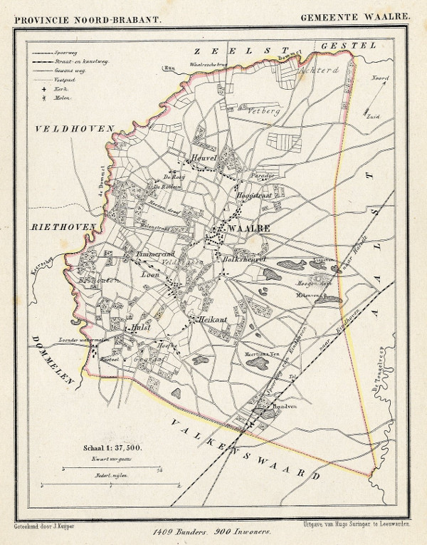 map communityplan Gemeente Waalre by Kuyper (Kuijper)