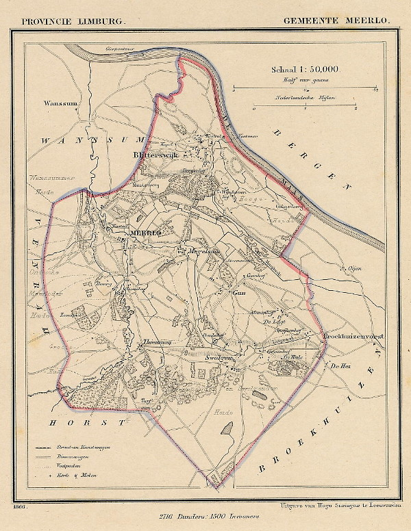 map communityplan Gemeente Meerlo by Kuyper (Kuijper)