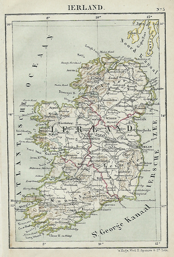 map Ierland by Kuyper (Kuijper)