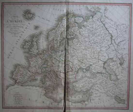 map Carte de l´Europe by Dufour