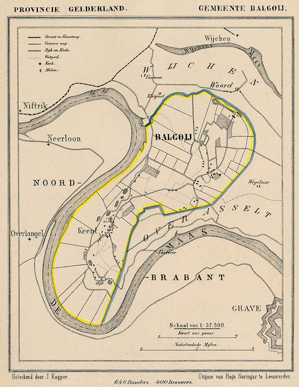 map communityplan Balgoy by Kuyper (Kuijper)