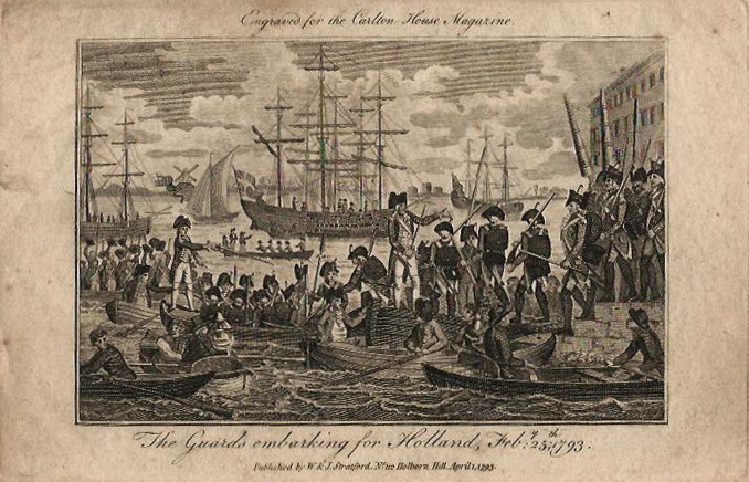 The guards embarking for Holland, Feb 25, 1793 by Stratford
