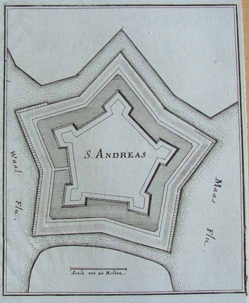 plan S. Andreas by Merian