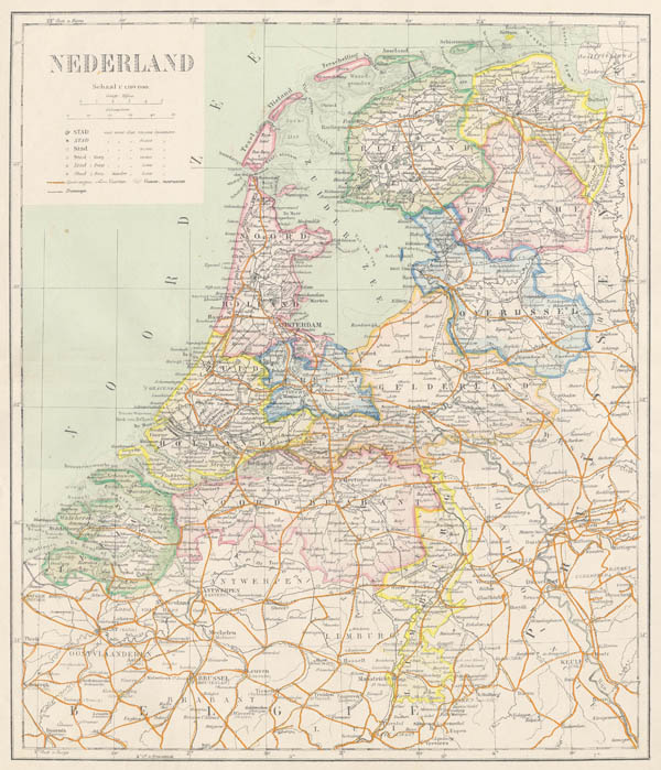 map Kaart van Nederland. by Puls