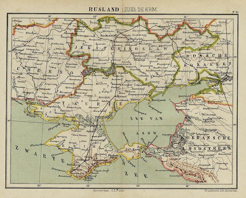 Rusland (Zuid), De Krim, an antique map of Russia, Ukraine by Kuyper on kolb russia map, kris russia map, kiev russia map, kursk russia map, ukraine russia border map, kara russia map, kuban russia map,
