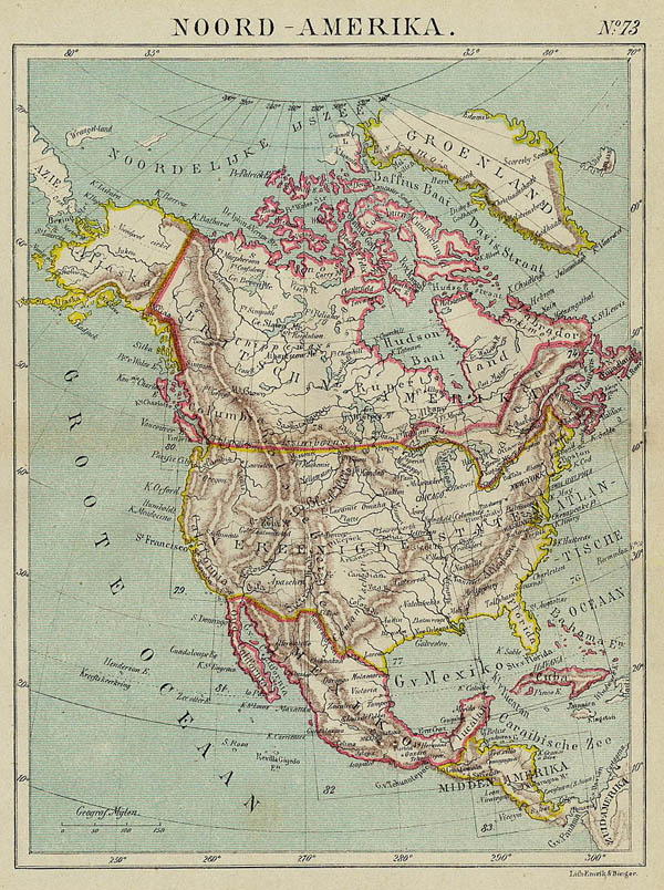 map Noord-Amerika by Kuyper (Kuijper)