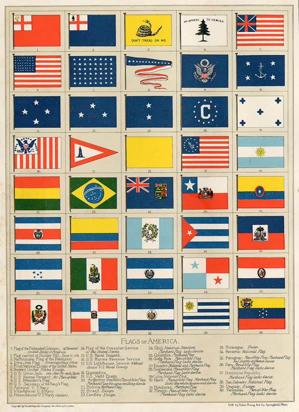 print Flags of America by Funk&Wagnalls Company