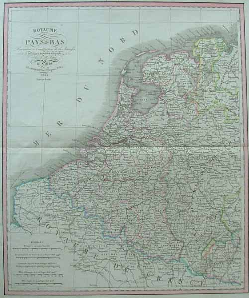 map Royaume des Pays Bas by Dufour