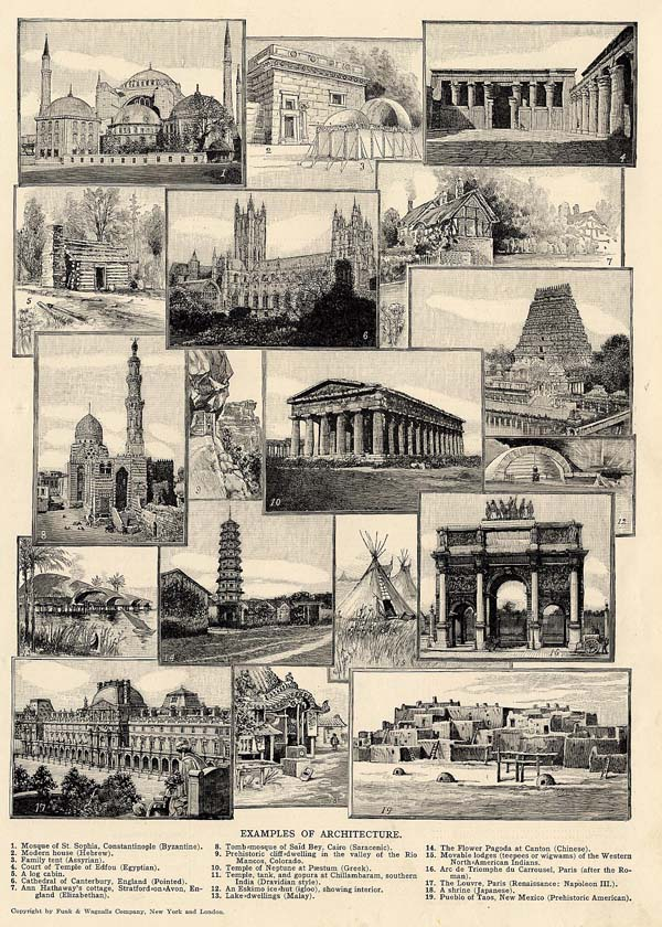 print Examples of Architecture by Funk&Wagnalls Company