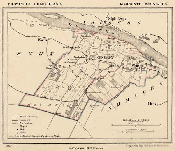 map communityplan Beuningen by Kuyper (Kuijper)