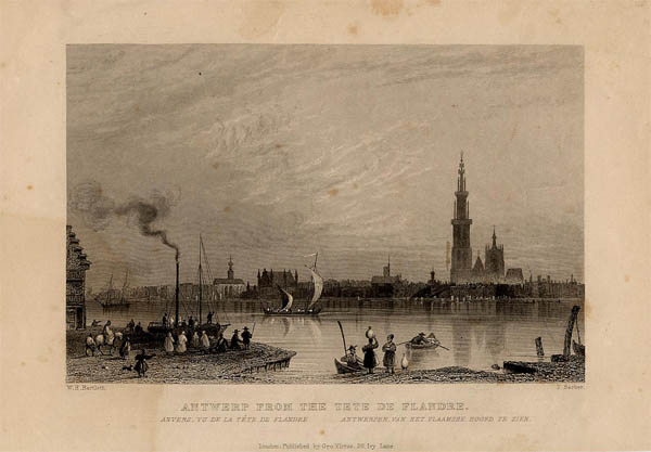 view Antwerp from the tete de Flandre - Anvers by Bartlett, W.R. - Barber, T