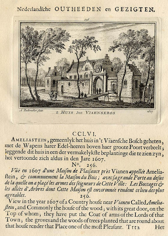 view t Huys int Viaensebos 1607 by Abraham Rademaker