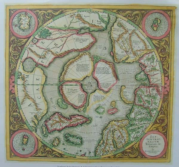 map REPRODUCTION: Northern Polar Regions by Mercator / Hondius