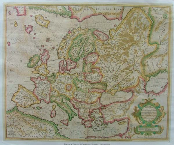 map REPRODUCTION: Europa by Rumoldus Mercator