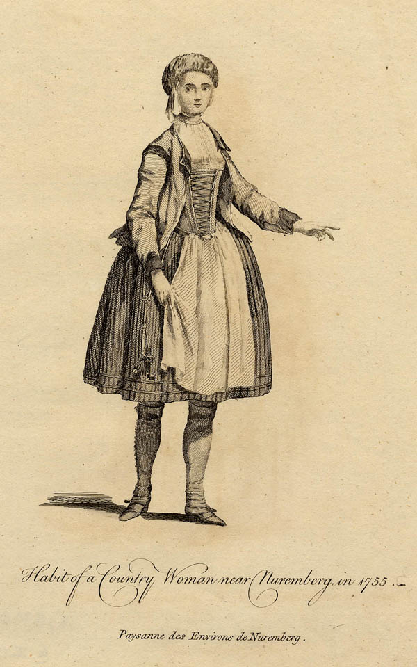 print Habit of a Country Woman near Nuremberg, in 1755 by John Miller