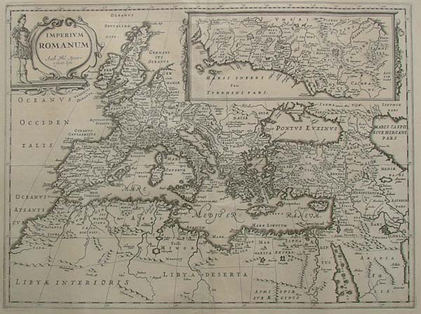 map Imperium Romanum Auth. Phil Briet. e societ Iesu by Papierformaat is 66 X 54 cm\r\nKoeman: Ja-10-45