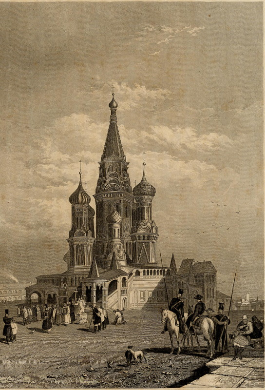 view Die Cathedrale Wassili Blaggenoi in Moskau by nn