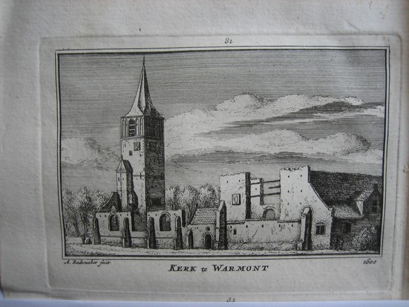 view kerk te Warmond by Abraham Rademaker