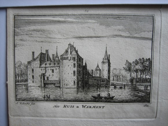 view Het Huis te Warmond by Abraham Rademaker